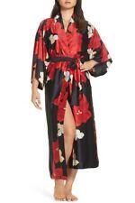 NWT $170 Natori Lucent Palms Pink Floral Satin Kimono Caftan Nightgown Women/'s