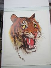 Vintage THE CROSS-EYED TIGER Poster 1973 The Art Brigade by Larry Nielson COOL