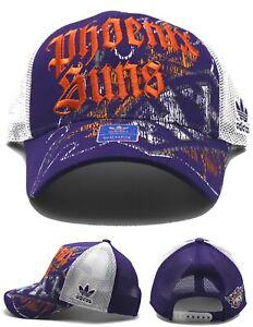 Phoenix Suns New Adidas Ladies Women PHX Mesh Trucker Purple Orange Era Hat Cap