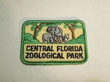 Vintage Central Florida Zoological Park Animals Illustration Iron On Zoo Patch