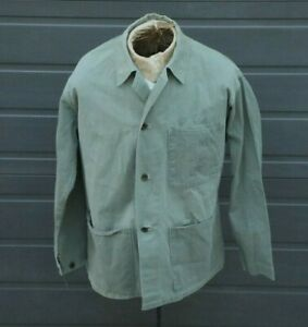 WWII Vintage US USMC Marine Corps P44 Herringbone, RW Davis, HBT Shirt Jacket
