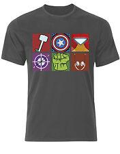 The Avengers Inspired Marvel Pop Art Assemble Heros Iron Man Tshirt Tee Top AE76