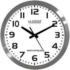 "WT-3161WH La Crosse Technology 16"" Atomic Wall Clock - Refurbished"