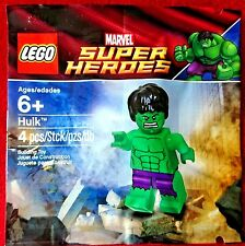 "Lego ""THE HULK"" Minifigure Super Heroes 5000022 New Rare Exclusive Polybag BNIP"