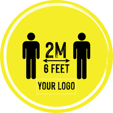 Social Distancing Floor Sticker/Decals - Anti Slip, Custom Logo, 2m Distance