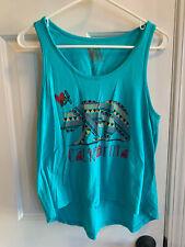 Surf Women's Blue Aztec California Tank Top Size Medium Shirt