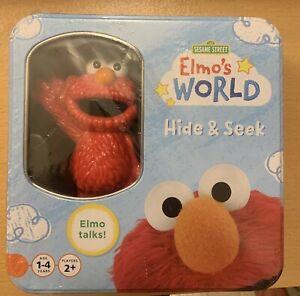 Sesame Street Elmo's World Hide And Seek Game W/ Talking Elmo Figure NIB