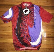 Briko Racing Cycling Jersey Size XL Red Purple 100% Polyester Made In Italy