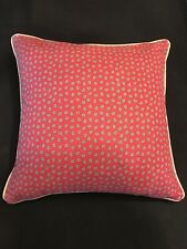 VTG Ralph Lauren Wine Red w Mini Paisley Design Decorative Pillow Cover Only! US