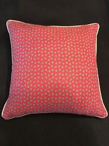 VTG Ralph Lauren Wine Red w Mini Paisley Design Decorative Pillow Cover Only! US