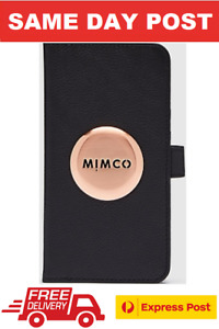 MIMCO MIM LOGO FLIP CASE COVER IPHONE 11 BLACK ROSE GOLD RRP$99.95- EXPRESS POST