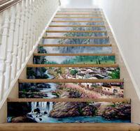 3D landscape 266 Stair Risers Decoration Photo Mural Vinyl Decal Wallpaper AU