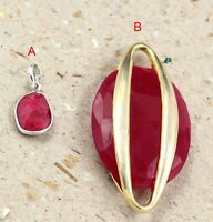Natural Ruby Gemstone Handmade Party Wear Gift Pendant Solid 925 Sterling Silver