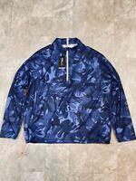 Polo Ralph Lauren RLX IVY GOLF CLUB Blue Camo Jacket Size XL-XXL [785751798004]