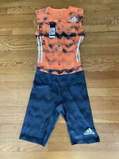 Adidas 3stripe Men I Piece Track Suit NWT Size M Orange Climachill