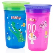 Nuby 360 Degree No Spill Cup, Maxi, Pack of 2 Assorted
