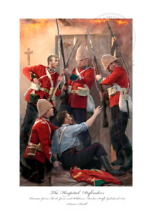 The Hospital Defenders VC Rorkes Drift Isandlwana Art print Ltd ed Artist signed
