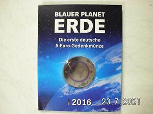 BRD-5x5 Euro-Blauer Planet ERDE-ADFGJ-kpl.-im Folder-MDM