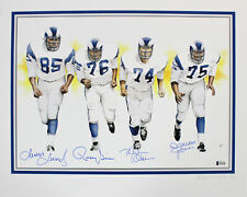 Rams Signed 16x20 Fearsome Foursome Lithograph Limited Edition Of 300 BAS