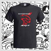 DODGE CHALLENGER SRT HELLCAT Logo Car NEW Men's Black T-Shirt S M L XL 2XL 3XL