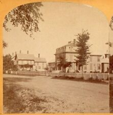 Portsmouth, NH, Corner of Silver and Cushing Street. Copeland  Stereoview Photo
