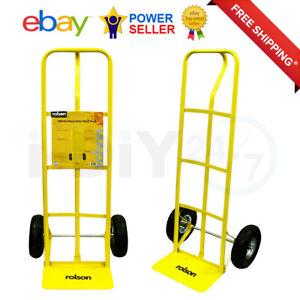 400lb Heavy Duty Sack Truck Industrial Hand Trolley with Pneumatic Tyre Wheel