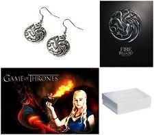 HBO Game of Thrones House Targaryen Dragon Dangle Earrings W/Gift Box US Seller