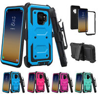 Samsung Galaxy Note 9 Note 8 S9 S8 Plus Shock Proof Phone Case Rugged Belt Clip