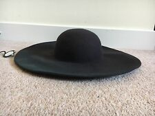 LADIES BLACK FEDORA HAT SUMMER FELT FLOPPY RACES HOLIDAY BEACH DOME CROWN TOP