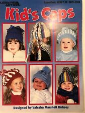 â­� Leisure Arts Kid's Caps to Crochet ~ Leaflet 2918â­�