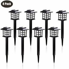 8 Pack Outdoor Garden Solar Power Pathway Lights Landscape Lawn Patio Yard Lamp