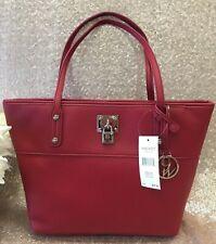 NWT Nine West It Girl Lock Tote Shoulder Bag Ruby Red MSRP $79