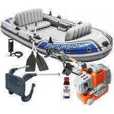 Paddelboot Schlauchboot für 4 Personen + 5.8 PS Außenbordmotor Bootsmotor / Satz