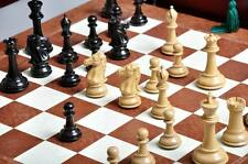 "The Capablanca Chess set, Box, & Board Combination - 4.0"" King - Genuine Ebony"