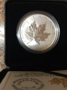 2021 $5 maple leaf W 1 oz silver bullion