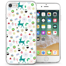 Apple iPhone 7 Case Christmas Pattern Best Protective Silicone Phone Cover White