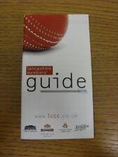 2008 Cricket: Lancashire County Cricket Club-membri GUIDE (PEN Mark per coprire)