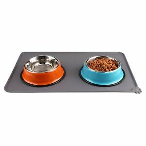 Pet Feeding Mat Dog Cat Bowl Mat   Waterproof Anti-slip Food Grade Silicone Pet