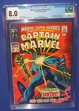 Marvel Super Heroes #13 CGC 8.0 Comic Book Carol Danvers 1st Appearance Cap 1968