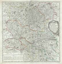 1753 Vaugondy Map of the Maine, Perche, Touraine and Anjou, France