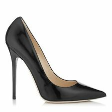 Jimmy Choo 'anouk' Black Patent Court Heels Pumps Stiletto Size Uk 4.5 Eu 37.5
