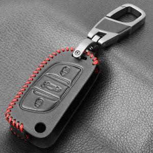 Leather Car Key Cover Citroen C2 C3 C4 Coupe VTR Berlingo C6 C8