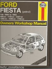 Ford Fiesta petrol Feb 1989-1993 owners workshop manual