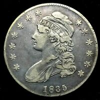 1835 Capped Bust Half Dollar Strong XF +++ Lettered Edge  Silver US Coin #1