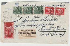 STORIA POSTALE - 1945 REGNO L.18 SU RACCOMANDATA ROMA 18/12 Z/8770