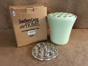 Southern Living At Home Ceramic Arrange It Easy Flower Vase Light Green frog