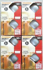 60 Watt Sylvania Soft White Incandescent A19 16 Light Bulbs USA ! 4 Packs 2xlife