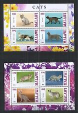 MALAWI 2013 CATS KATZEN CHATS 2X MINI SHEET ** MNH