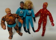 Vintage Mego WGSH 8 in Fantastic Four Thing, Torch, Invisible Girl, Mr Fantastic