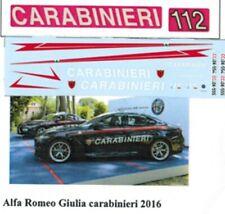 decal 1/43 CARABINIERI x ALFA ROMEO GIULIA 2016 TRON DE129